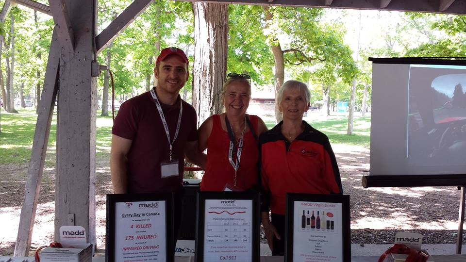 MADD Sarnia/Lambtonat  NOVA Chemical's Family Picnic, June 7th.