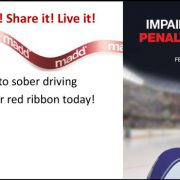 Tie it! Wear it! Show it! Share it! Live it! Show your commitment to sober driving this holiday season. Get your red ribbon today!