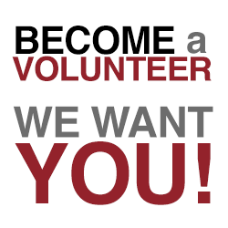Become a volunteer. We want you!