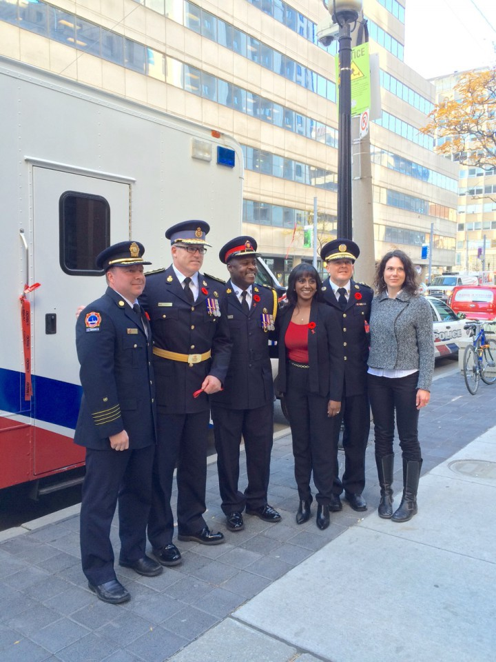 MADD Toronto launch of the 28th Project Red Ribbon Campaign at Toronto Police Service Headquarters