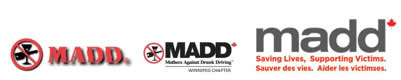 MADD Canada's logo throughout the years