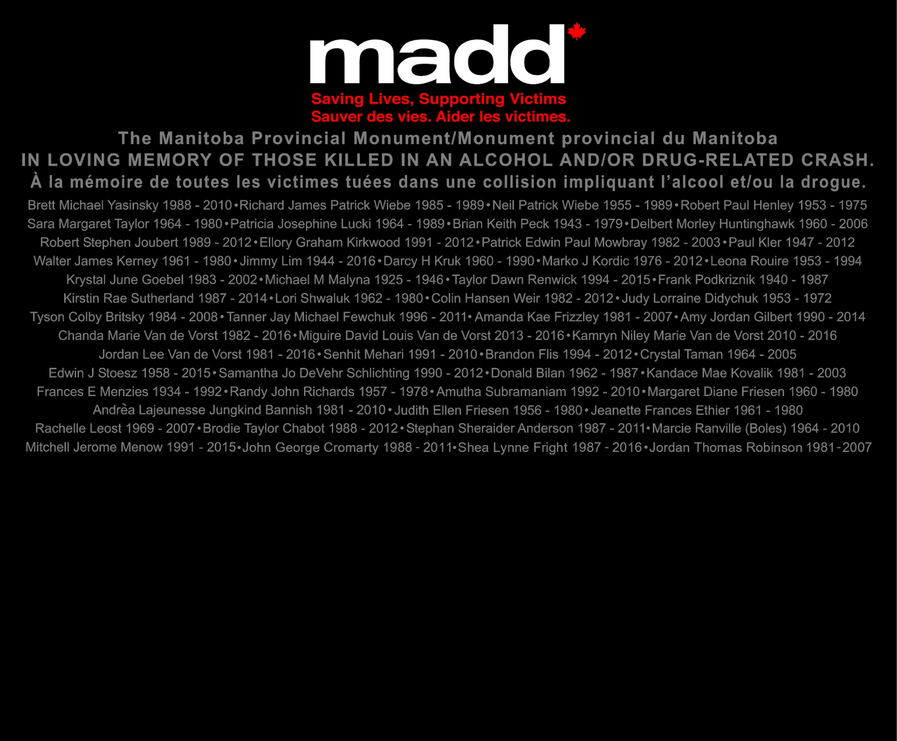 MADD August 28 2016