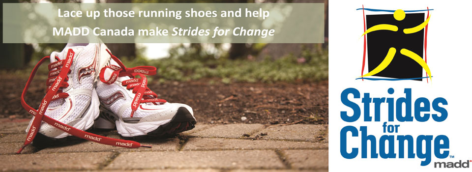 Strides for Change 2015 banner – OUTSIDE OF Ontario