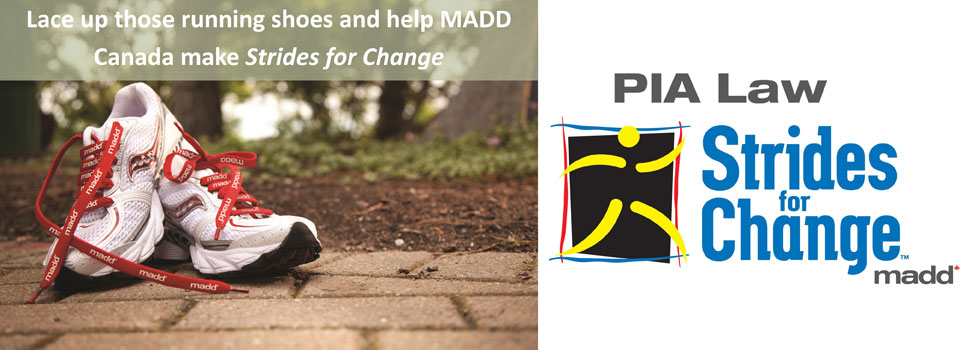 Strides for Change 2015 banner – Ontario